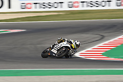 September 7, 2018 - Rimini, Italy - 19 Spanish driver Alvaro Bautista of Team Aspar MotoGP Team driving durin free practice in Misano World Circuit Marco Simoncelli in Misano Adriatico for San Marino and Riviera di Rimini GP  (Credit Image: © Andrea Diodato/NurPhoto/ZUMA Press)
