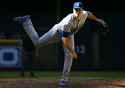 May 3, 2018 - Phoenix, AZ, U.S. - PHOENIX, AZ - MAY 03: Los Angeles Dodgers relief pitcher Ross Stripling (68) pitches during the MLB baseball game between the Arizona Diamondbacks and the Los Angeles Dodgers on May 3, 2018 at Chase Field in Phoenix, AZ (Photo by Adam Bow/Icon Sportswire) (Credit Image: © Adam Bow/Icon SMI via ZUMA Press)