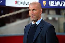 May 6, 2018 - Barcelona, Spain - Zinedine Zidane during the match between FC Barcelona and Real Madrid CF, played at the Camp Nou Stadium on 06th May 2018 in Barcelona, Spain.  Photo: Joan Valls/Urbanandsport /NurPhoto. (Credit Image: © Joan Valls/NurPhoto via ZUMA Press)