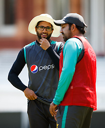 Pakistan's Imam-Ul-Haq during the nets session at Lord's, London.