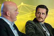 Keith Wood and Dr Richard Simpson during panal discussion at the Orreco Science Summit, Glenlo Abbey Hotel, Galway, 25.10.16