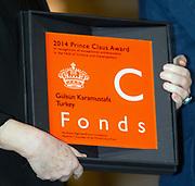 Uitreiking van de Prins Claus Prijs 2014 n het Koninklijk Paleis in Amsterdam.<br /> <br /> Presentation of the Prince Claus Award in 2014 n the Royal Palace in Amsterdam.