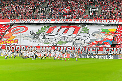 11.09.2011,  Rhein Energie Stadion, Koeln, GER, 1.FBL, 1. FC Koeln vs 1. FC Nürnberg, im Bild.Choreo Boyz Köln für 10 Jahre ..// during the 1.FBL, 1. FC Koeln vs 1. FC Nürnberg on 2011/09/11, Rhein-Energie Stadion, Köln, Germany. EXPA Pictures © 2011, PhotoCredit: EXPA/ nph/  Mueller *** Local Caption ***       ****** out of GER / CRO  / BEL ******