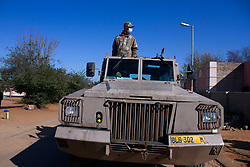 May 5, 2020, Johannesburg, Gauteng, South Africa: A South African National  Defence Force patrolling an area at Eldorado Park Johannesburg. (Credit Image: © Manash Das/ZUMA Wire)