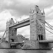 Tower Bridge Close - London, UK - Black & White