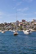 Moored Yachts, Mosman Bay, Sydney Harbour, Australia