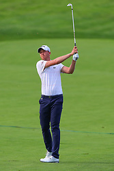 May 16, 2019 - Farmingdale, NY, U.S. - FARMINGDALE, NY - MAY 16:  Daniel Berger of the United States plays from the 18th fairway during the first round of the 2019 PGA Championship at the Bethpage Black course on May 16, 2019 in Farmingdale, New York. (Photo by Rich Graessle/Icon Sportswire) (Credit Image: © Rich Graessle/Icon SMI via ZUMA Press)