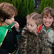 NLD/Amsterdam/20120219 - Premiere Sprookjesboom de Film, Anky van Grunsven en kinderen Yannick en Ava