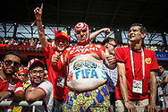 Fans of Tunisia during the 2018 FIFA World Cup Russia, Group G football match between Belgium and Tunisia on June 23, 2018 at Spartak Stadium in Moscow, Russia - Photo Thiago Bernardes / FramePhoto / ProSportsImages / DPPI