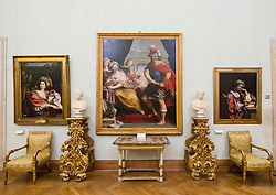 Paintings in gallery at Capitolini Museums in Rome Italy