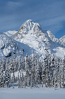 Mount Herman in winter, North Cascades Washington