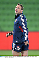 24 June 2013; Tommy Bowe, British & Irish Lions, during the captain's run ahead of their match against Melbourne Rebels on Tuesday. British & Irish Lions Tour 2013, Captain's Run, AAMI Park, Olympic Boulevard, Melbourne, Australia. Picture credit: Stephen McCarthy / SPORTSFILE