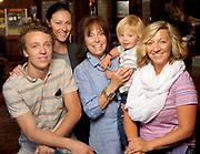 From left, Golden Garnick, Savanna Garnick, Vickie Garnick and Gideon and Jessica O'Neal.