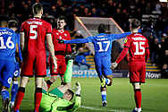 Peterborough United forward Ivan Toney (17) celebrates his goal during the EFL Sky Bet League 1 match between Peterborough United and Walsall at London Road, Peterborough, England on 22 December 2018.
