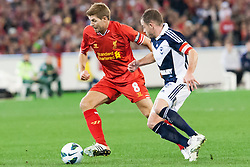 © Licensed to London News Pictures. 24/7/2013. Steven Gerrard during the Melbourne Victory Vs Liverpool F.C at the Melbourne Cricket Ground, Melbourne, Australia. Photo credit : Asanka Brendon Ratnayake/LNP