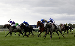 Dark Shift ridden by Daniel Tudhope (right) wins The Racing To School Classified Stakes during the Autumn Racing Weekend at Ascot Racecourse, Berkshire. Picture date: Friday October 1, 2021.
