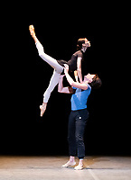 Luisa Ieluzzi and Guiseppe Picone at the rehearsal for the BALLET ICONS GALA 2020  evening of world class ballet celebrating the Russian Ballet School photo by Brian Jordan