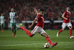 February 3, 2018 - Lisbon, Portugal - Benfica's forward Eduardo Salvio in action during the Portuguese League  football match between SL Benfica and Rio Ave FC at Luz  Stadium in Lisbon on February 3, 2018. (Credit Image: © Carlos Costa/NurPhoto via ZUMA Press)
