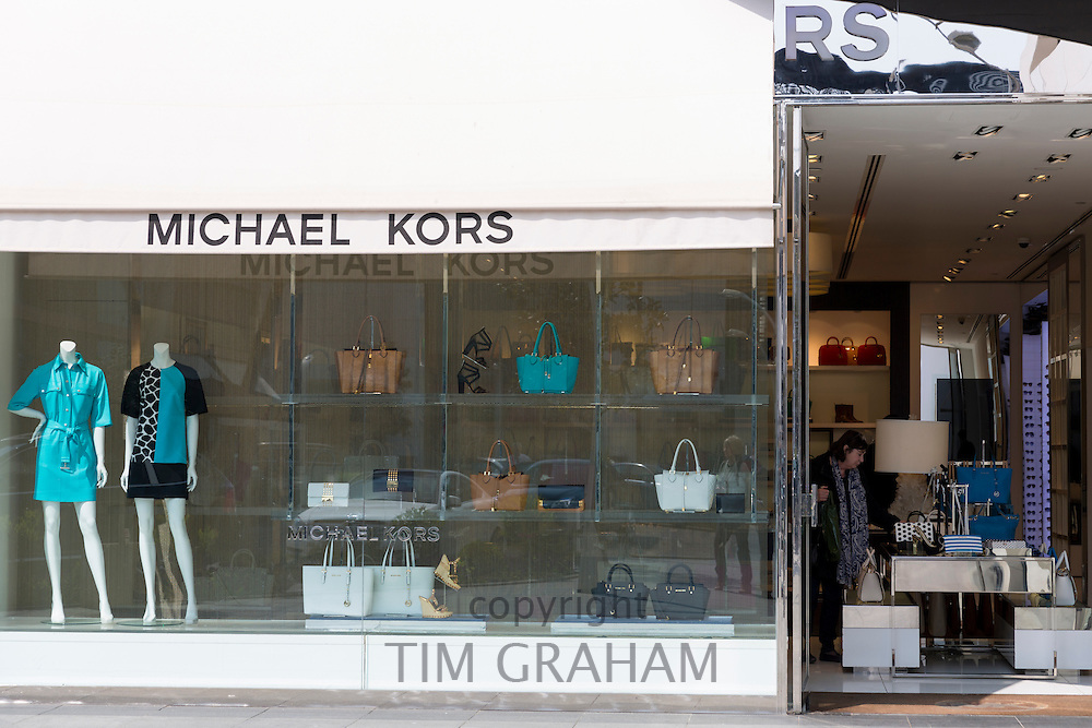 Michael Kors designer fashion shop window at Istinye Park shopping mall near Levent business center, Istanbul, Turkey