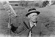 Farmer with rake, Heiligenblut, Austria,<br /> 1938