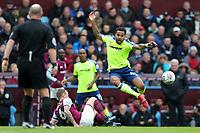 Aston Villa v Derby County - Sky Bet Championship<br /> BIRMINGHAM, ENGLAND - APRIL 28 :  Derby County's Tom Huddlestone, jumps to escape a challenge by Aston Villa's, Glenn Whelan