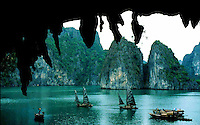 Junks in Halong Bay, Vietnam
