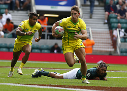 May 26, 2019 - Twickenham, England, United Kingdom - Matt Hood of Australia.during The HSBC World Rugby Sevens Series 2019 London 7s Cup Quarter Final Match 29 between South Africa and Australia at Twickenham on 26 May 2019. (Credit Image: © Action Foto Sport/NurPhoto via ZUMA Press)