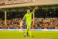David Stockdale of Brighton and Hove Albion during the Sky Bet Championship match at Craven Cottage, London<br /> Picture by Richard Brooks/Focus Images Ltd 07947656233<br /> 02/01/2017