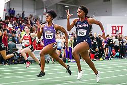 womens 60 heat 3, Taylor, JMU, Joseph, UConn<br /> David Hemery Valentine Invitational<br /> Indoor Track & Field at Boston University