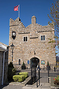 Dalkey Castle and Heritage Centre on 08th April 2017 in County Dublin, Republic of Ireland. Dalkey is one of the most affluent suburbs of Dublin, and a seaside resort just south of Dublin. It was founded as a Viking settlement and became an active port during the Middle Ages.