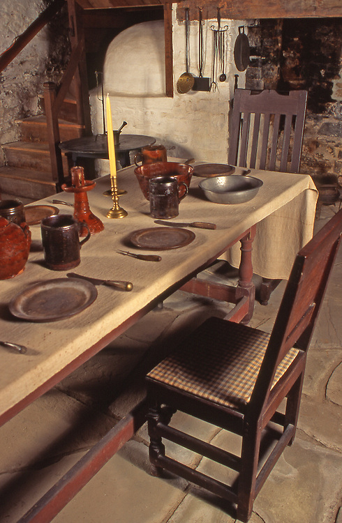 Brinton 1704 House, Dining and Bee Hive Oven, Quaker Home, Chester Co., PA