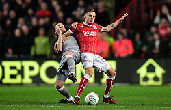 Jamie Paterson of Bristol City battles for the ball with Daley Blind of Manchester United   - Mandatory by-line: Joe Meredith/JMP - 20/12/2017 - FOOTBALL - Ashton Gate Stadium - Bristol, England - Bristol City v Manchester United - Carabao Cup Quarter Final