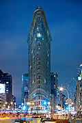 NYC: The Flatiron Building, intersection of Fifth Avenue and Broadway