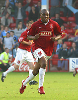 Photo: Dave Linney.<br />Walsall v Wycombe Wanderers. Coca Cola League 2. 14/10/2006.Walsall goalscorer Hector Sam