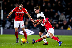 Joao Carvalho of Nottingham Forest takes on Craig Bryson of Derby County - Mandatory by-line: Robbie Stephenson/JMP - 17/12/2018 - FOOTBALL - Pride Park Stadium - Derby, England - Derby County v Nottingham Forest - Sky Bet Championship