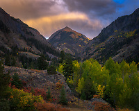 Clearing storm at sunset  over the San Juans in Colorado.