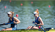 Plovdiv, Bulgaria, 10th May 2019, FISA, Rowing World Cup 1,  Boat Park area, USA Rowings Women's Squad, USA1,  W2-, Bow, Erin REEKICK and Madeleine WANAMAKER,  at the Start,[© Peter SPURRIER]
