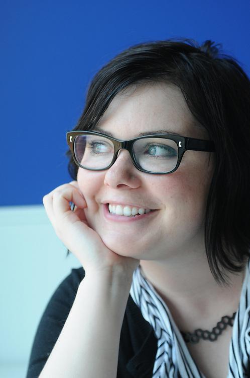 Valerie- Blue Daring Graphic Designer