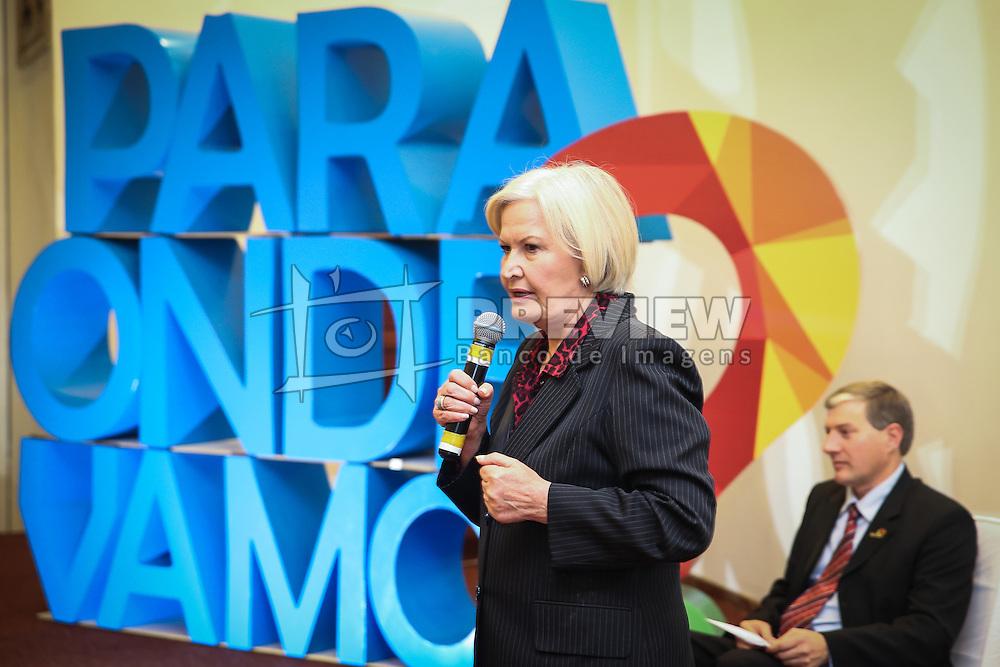 A Senadora e canaidata ao governado do Estado, Ana Amélia Lemos durante o 34º Congresso de Municípios, no Plaza São Rafael, em Porto Alegre. FOTO: Jefferson Bernardes/Agência Preview