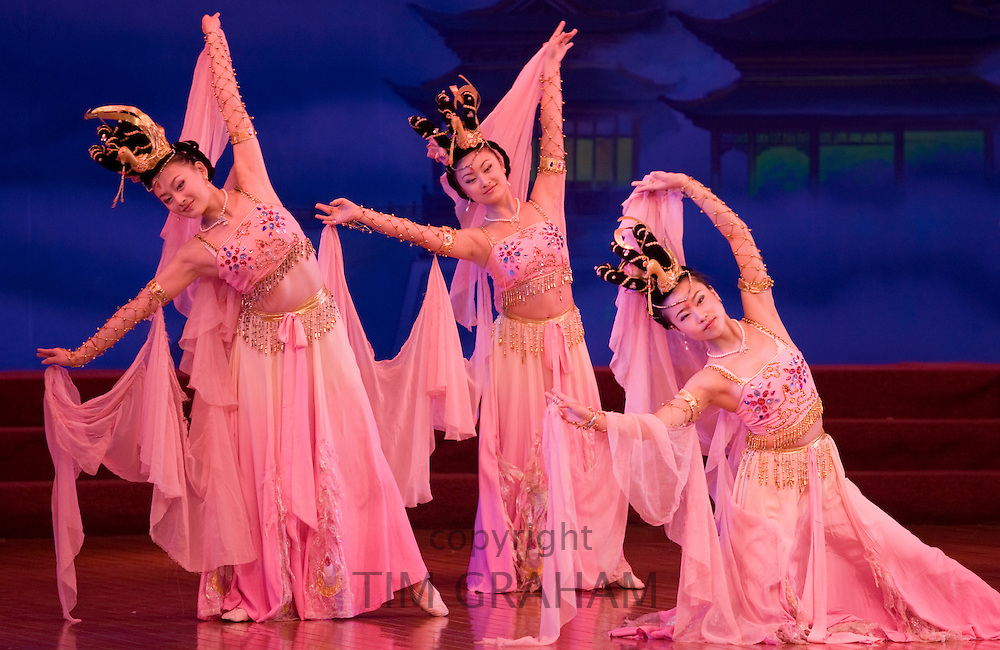 Dancers performing in the Tang Dance Show, Shaanxi Grand Opera House, Xian, China