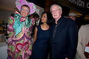 GRAYSON PERRY; LADY SHAKIRA CAINE; SIR MICHAEL CAINE attend The Galleries of Modern London launch party at the Museum of London on May 27, 2010 in London. <br /> -DO NOT ARCHIVE-© Copyright Photograph by Dafydd Jones. 248 Clapham Rd. London SW9 0PZ. Tel 0207 820 0771. www.dafjones.com.