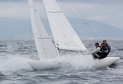 International Dragon Class Edinburgh Cup 2015.<br /> <br /> The first days racing in a strong southerly.<br /> <br /> GBR795, EXCITE, Tom Vernon<br /> <br /> Credit Marc Turner