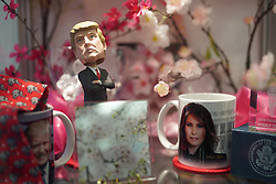 A Donald Trump model and a Ivanka Trump mug on sale in the White House gift shop in Washington DC in the United States. From a series of travel photos in the United States. Photo date: Thursday, March 29, 2018. Photo credit should read: Richard Gray/EMPICS