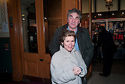 Imelda Staunton; Jim Carter, Press night of Cirque du Soleil's new show 'Totem' at The Royal Albert Hall.  London. January 5, 2011<br /> <br /> -DO NOT ARCHIVE-© Copyright Photograph by Dafydd Jones. 248 Clapham Rd. London SW9 0PZ. Tel 0207 820 0771. www.dafjones.com.