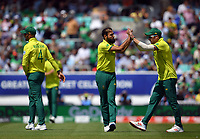 Cricket - 2019 ICC Cricket World Cup - Group Stage: South Africa vs. Bangladesh<br /> <br /> South Africa's Imran Tahir celebrates taking the wicket of Bangladesh's Shakib Al Hasan clean bowled for 75 with David Miller, at The Kia Oval.<br /> <br /> COLORSPORT/ASHLEY WESTERN
