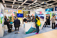 DEU, Deutschland, Germany, Berlin, 07.03.2019: Internationale Tourismus-Börse (ITB) auf dem Berliner Messegelände, Stand von Israel.