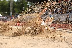 Jessie Ipsen. Danmarksmesterskaber i atletik, Odense, 3. august 2014.