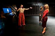 DEN HAAG, 16-03-2021, Nederlands Dans Theater<br /> <br /> Koningin Maxima tijdens een bezoek aan het Nederlands Dans Theater in Den Haag. Het werkbezoek stond in het teken van de vraag hoe het dansgezelschap zich tijdens de coronapandemie staande houdt en werkt aan behoud van kwaliteit, interessante online programmering en publieksbereik.<br /> <br /> Queen Maxima during a visit to the Nederlands Dans Theater in The Hague. The working visit was devoted to the question of how the dance company is holding its own during the corona pandemic and is working on maintaining quality, interesting online programming and audience reach.