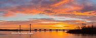 63895-15905 Clark Bridge at sunrise Alton IL