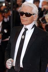 Karl Lagerfeld attending the 60th Cannes Film Festival in 2007. The designer has passed away aged 85